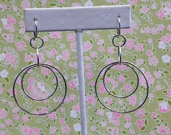925 Circle Dangle Earrings