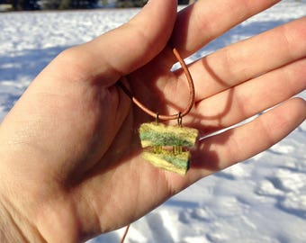 Hand-felted Pendant Necklace