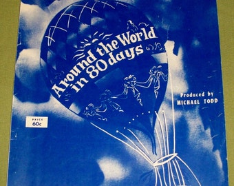 Around The World in 80 Days Sheet Music 1956