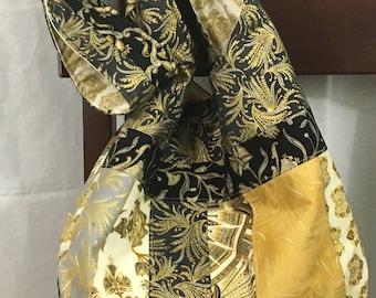 Crossbody, hobo bag, egyptian style hobo bag, black and gold sling bag