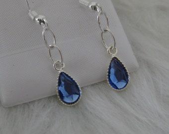 Swarovski sapphire drop earrings