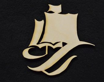 Small Ship Wood Cutouts - Shapes for Projects or Other Use - Boat