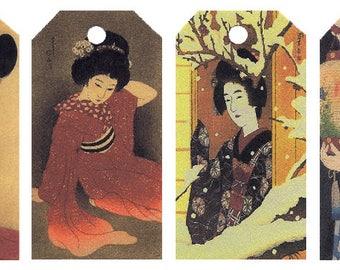 12 Shipping (Gift) Tags by Shinsui Bijin (Women) 002