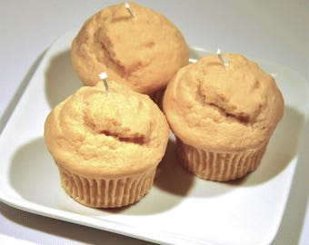 Cutest muffin candle ever, blueberry, banana nut bread, cinnamon apple spice - 4oz soy