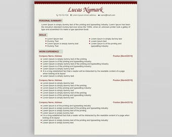 Creative Resume Template   Professional CV Template   Modern Resume Template  Resume Cover Letter   CV Design  Resume Template with Picture