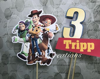 Toy Story Centerpiece Inserts or Cake Topper