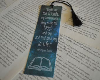 Books Are My Friends Bookmark - Christopher Paolini Book Quote Bookmark