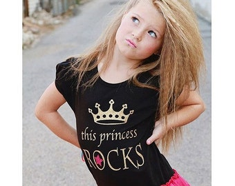 Girls Rock Star Birthday, Rock Princess Dress, Girls Pettidress, This Princess Rocks, Rock Star Party, Birthday Dress, Birthday Rockstar