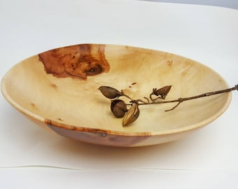 Large handmade maple bowl