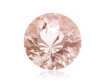 0.93-1.25 Cts of 7 mm AAA Round Morganite ( 1 pc ) Loose Gemstone-382312
