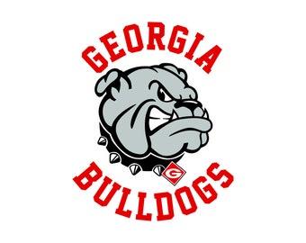 georgia bulldogs svg etsy rh etsy com georgia bulldogs clipart free georgia bulldog clipart black and white