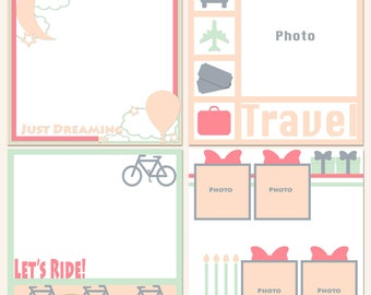 On The Outside Digital Scrapbooking Templates
