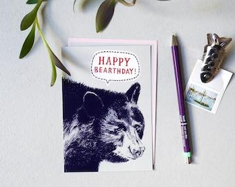Happy Birthday Bear - Postcard (Bear)thday