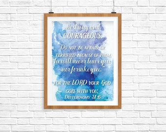 Bible Quote, Deuteronomy, Inspirational Quote Print, Download Quote Print, Printable Download Quote, Wall Art, Instant Download Quote Poster