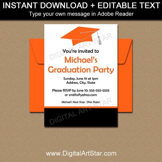 Graduation Party Invitation Template High School Graduation