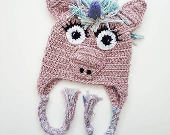 Sparkly unicorn hat, toddler unicorn hat, unicorn hat, children's hat, girls hat, kids unicorn hat, girls winter hat, toddler hat, toddler c