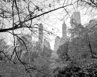 New York Photography, NYC Print, Central Park, Black and White, Photography Print, Wall Art, New York City Art, 5 x 7 Print, 8 x 10 Photo,