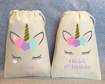 "10- Unicorn Party, Unicorn Birthday, unicorn party favors, Unicorn bags, Unicorn favor bags, Unicorn party favor bags, Unicorn bag, 5""x8"""