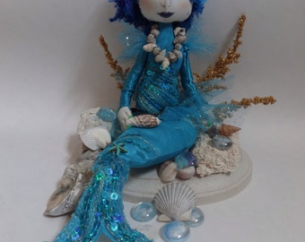 Handmade cloth Mermaid art dolls
