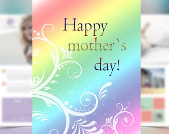 Mother's day Greeting card, Digital cards