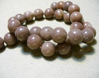 Aventurine Beads Gemstone Purple  Round 10mm