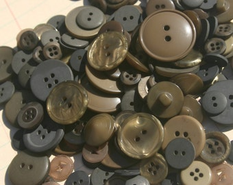 Olive Green Button - Sewing Assorted Round Bulk Buttons - 100 Buttons - Olive Branch