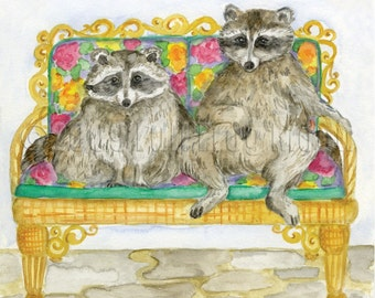 Rebecca and Horace Presidential Pet Portrait Print