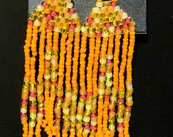 Orange Mix Earrings