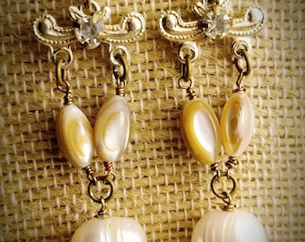 Baroch pearls and vintage Japanese bead elements