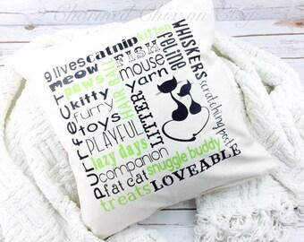 Cat Lover Gift/Cat Lover Present/Cat Lover/Cat Pillow/Feline Lover/Feline Gift/Feline Present/Cat Appreciation/Decorative Pillow