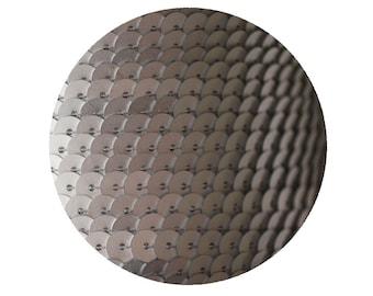 6mm Matte Silver Flat Sequin Trim