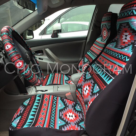 Aztec Car Seat Covers Tribal Aztec Back Seat Cover Steering Wheel Cover Car Accessories Seat Covers For Car For Vehicle Aztec Car Set Tribal
