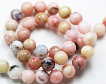 "Pink Opal, 8mm Round Gemstone, Full strand Gemstone Beads,16""-GEM1514"
