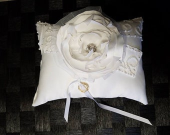 Custom 5 in 1 Wedding Dress Pillow with option to include Bridal Dollar Dance Bag - All Made From Your Repurposed Wedding Gown