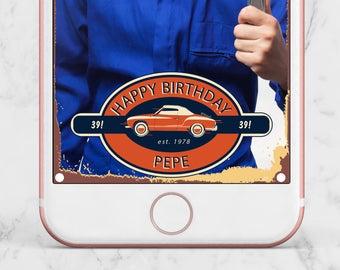 Vintage Car Birthday Snapchat Geofilter, Vintage Car Birthday Filter, Antique Cars Birthday Geofilter, Cars Birthday Geofilter, Car Filter