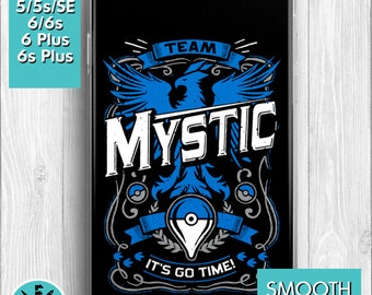 Team Mystic Go Video Game Inspired iPhone 6, iPhone 5 Protective Cover Phone Case All Models Available.