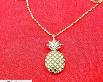 Pineapple Necklace | Sterling Silver Necklace | Birthday Gift For Her | Necklaces For Women | Pineapple Jewelry | Bridesmaid Gift