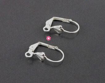 x 10 Support sleeper earrings Silver (05th)