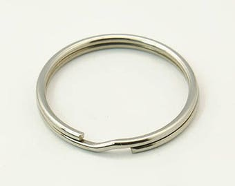 Ring for Keychain stainless steel 25 mm, set of 7 Pcs