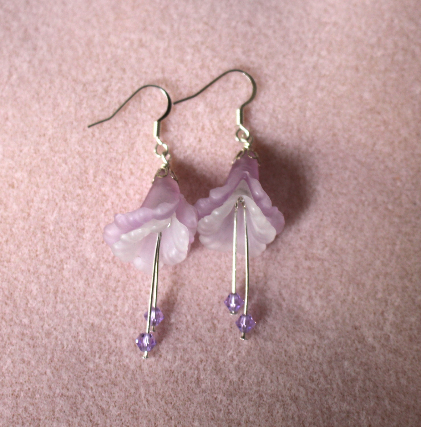 earrings shop purple and quilling change flower pink creative