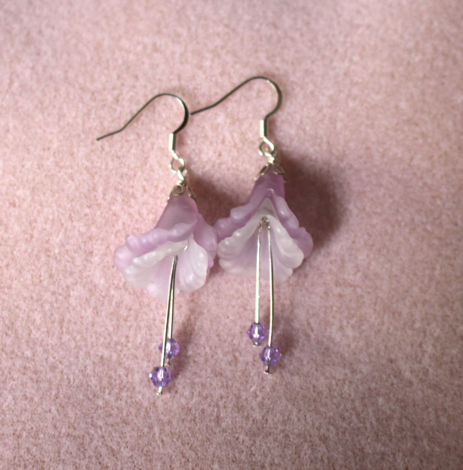 dragonfly own do vintage il it earring your listing flower jewelry purple earrings yourself fullxfull design floral kit make