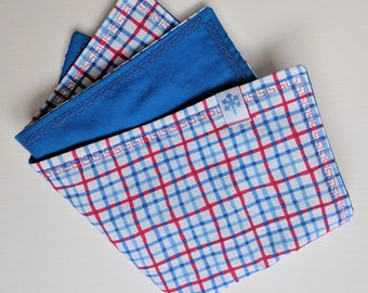 Handkerchief, Hank, EDC hank, Everyday carry hank, EDC, Red Hank, Red and blue handkerchief, red, Blue, red and blue,