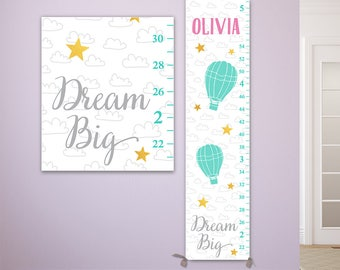 Dream Big - Growth Chart Personalized on Canvas - GC8010P