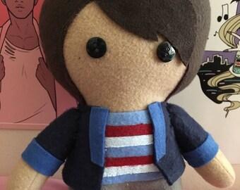 Jeremy Heere Michael Mell Rich Goranski Be More Chill Musical Fleece Plush Doll