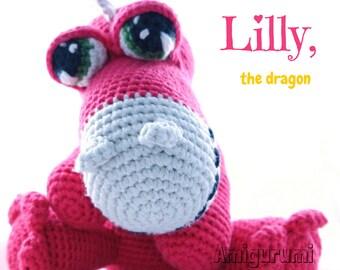 Lilly, the dragon // Little Wendy crochet pattern, amigurumi