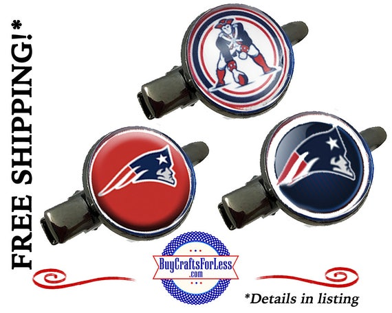 FAST SHiP **NEW ENGLAND HAiR CLiP, 3 DESiGNS +99cent SHIiPPiNG & Discounts*