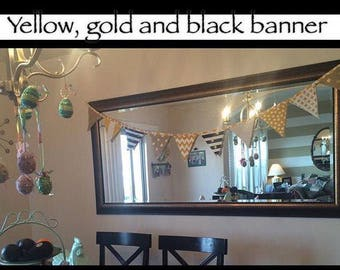 Yellow, gold and black banner