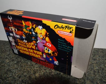 Super Mario RPG: Legend of the Seven Stars Super Nintendo SNES Reproduction Box! Best Repros in the world!