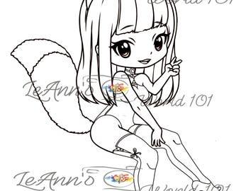 Foxy - Digital Stamp