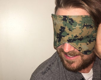 Oversized Womens Mens Sleeping Sleep Travel Eye Mask Stretchy Silk Satin Digital Camo